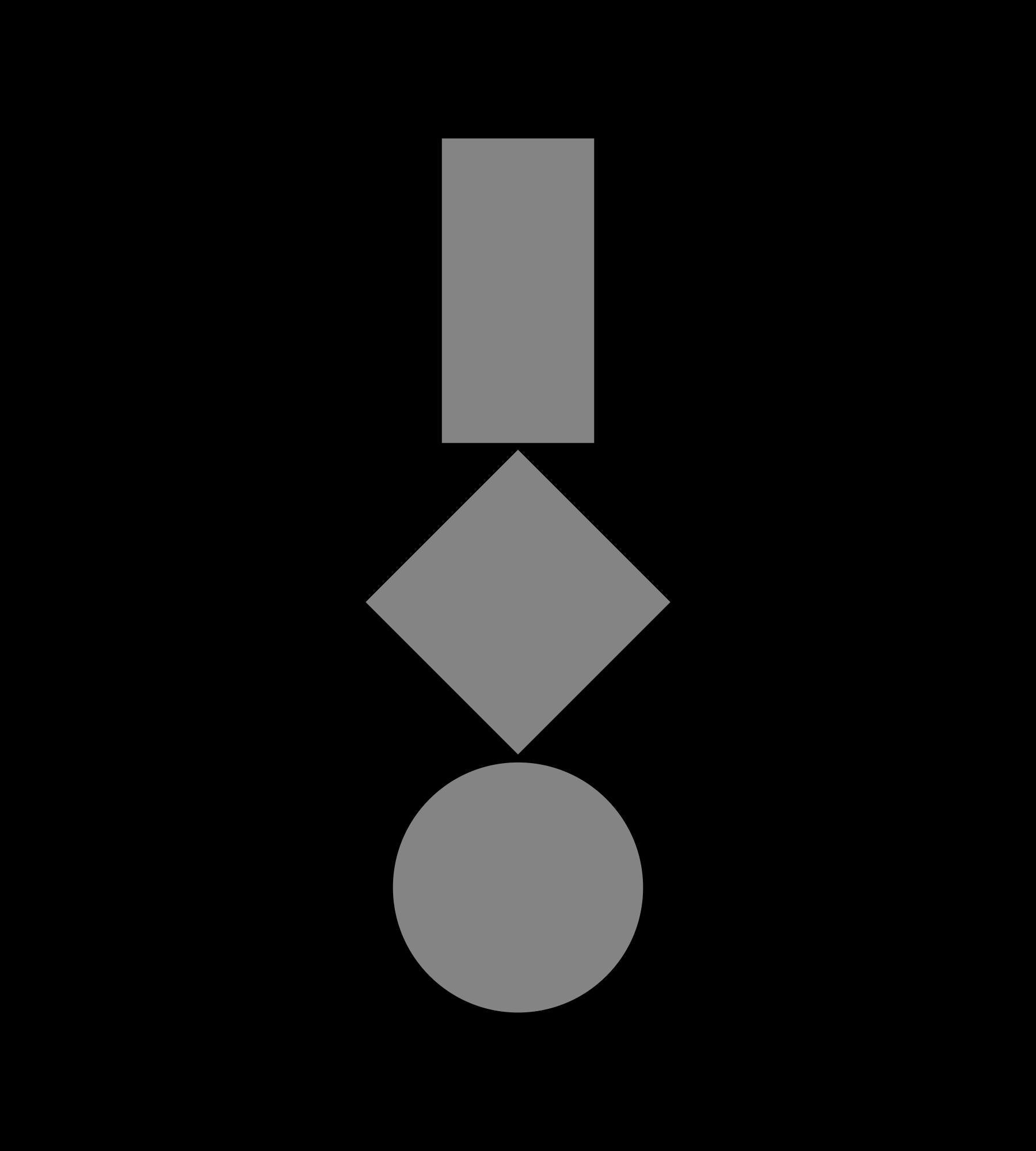 Drei geometrische Figuren