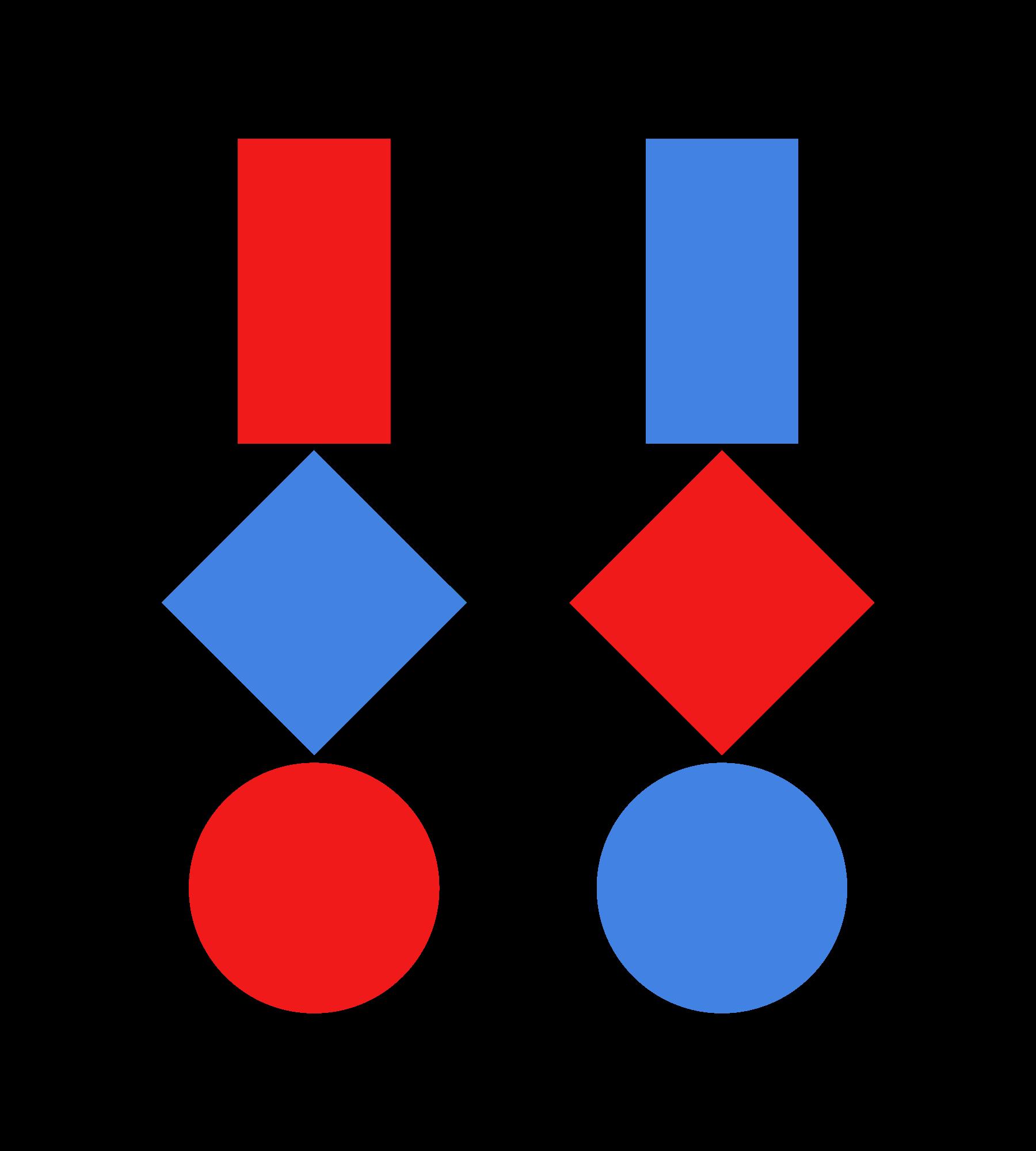 Drei geometrische Figuren · Transparenter Hintergrund