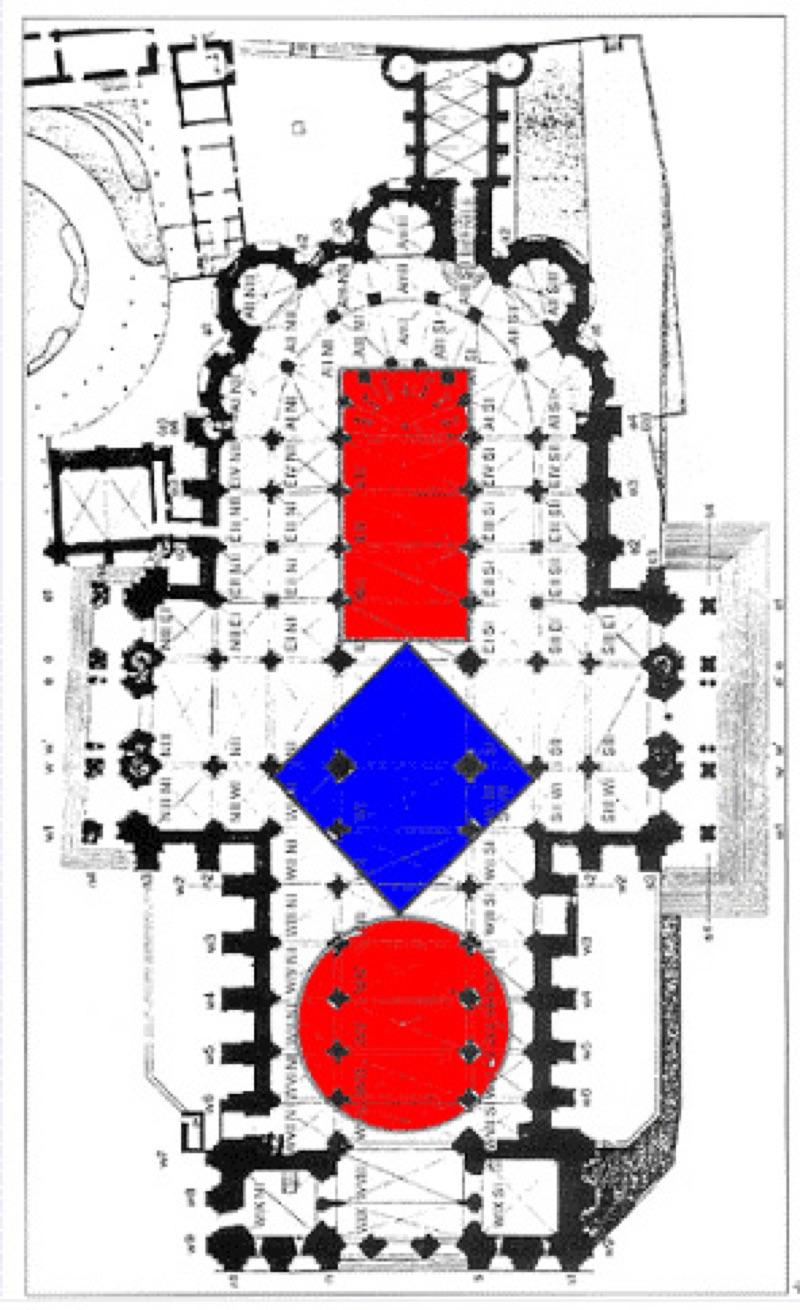 Grundriss der Kathedrale von Chartres
