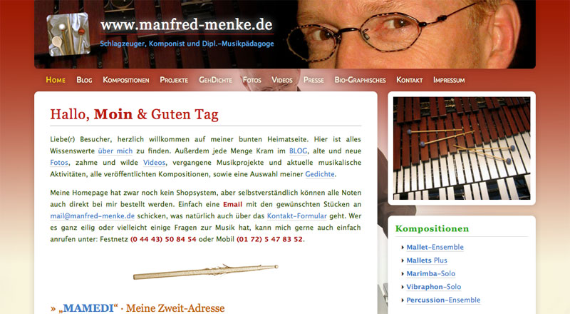 Alte MM-Homepage