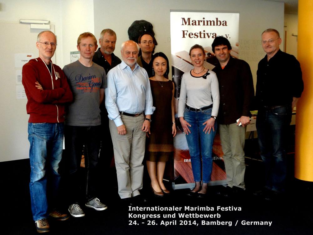 Marimba-Festiva, Bamberg 2014 · Juroren und Gäste