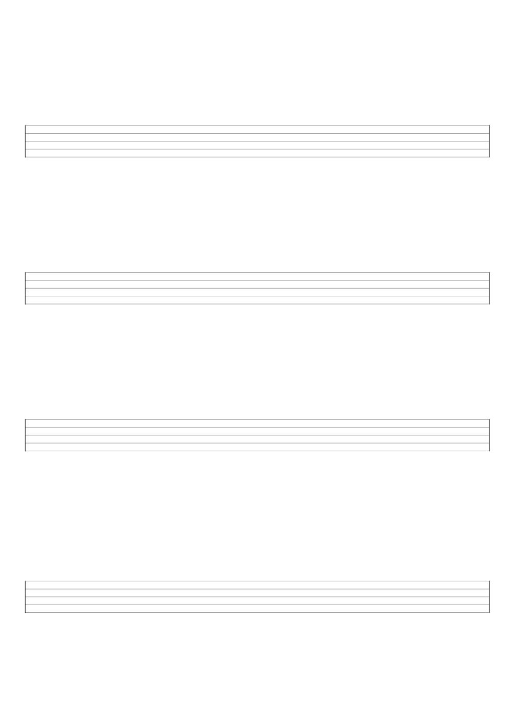 Notenpapier · 4 Systeme