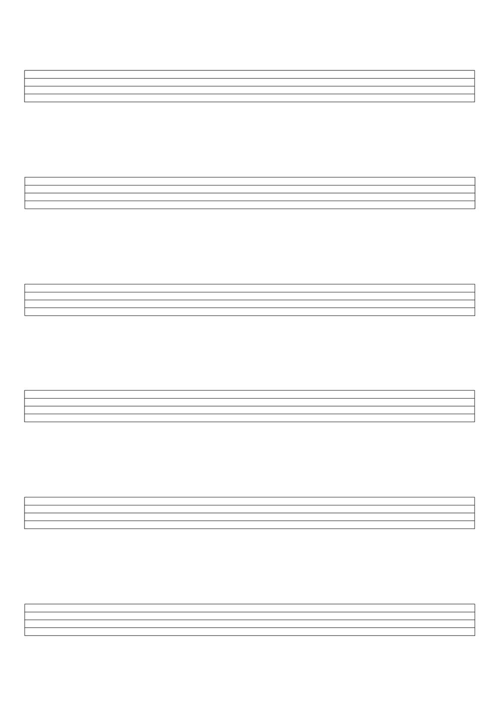 Notenpapier · 6 Systeme · GROSS