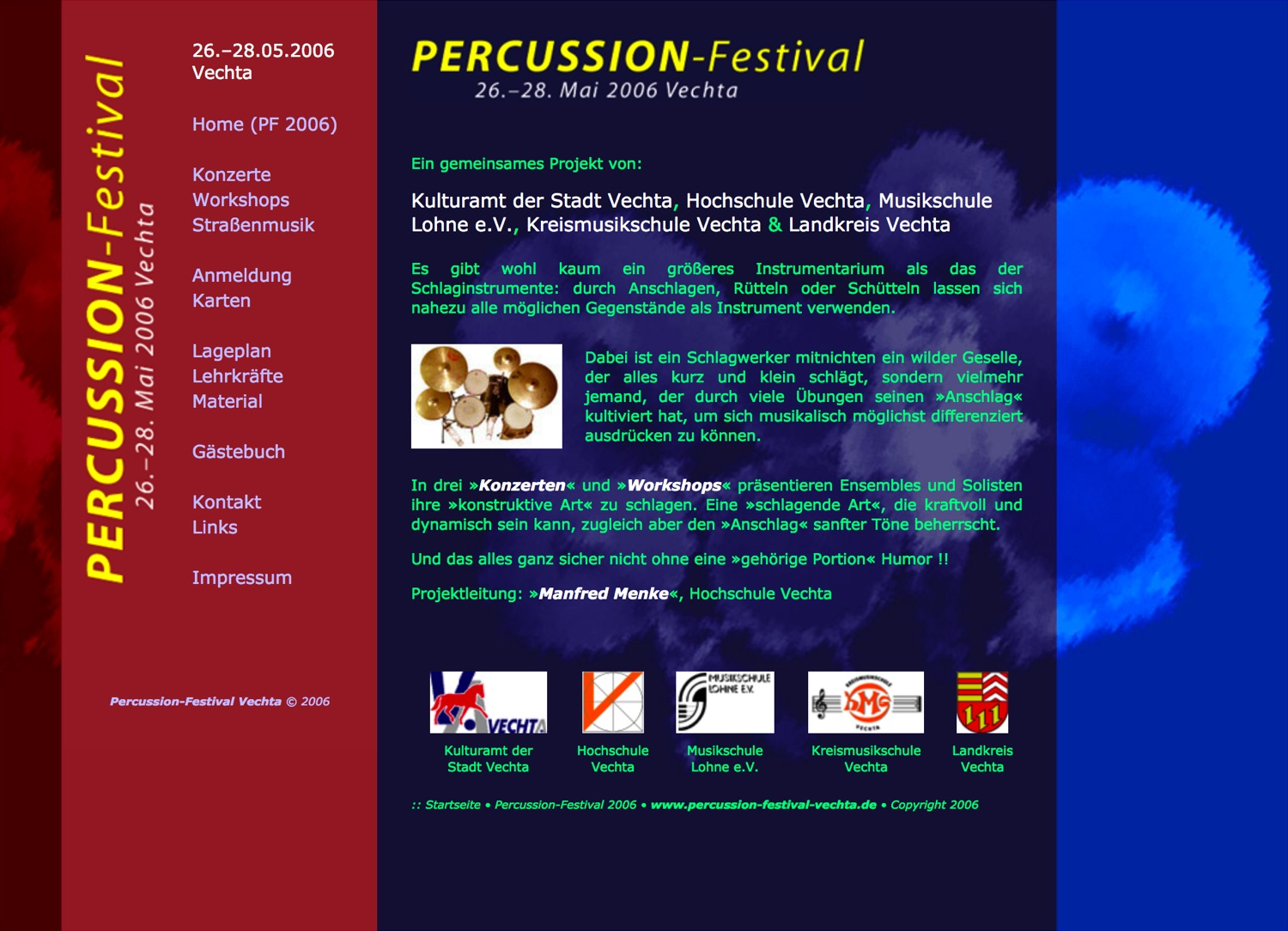 Percussion-Festival Vechta · Homepage 2006