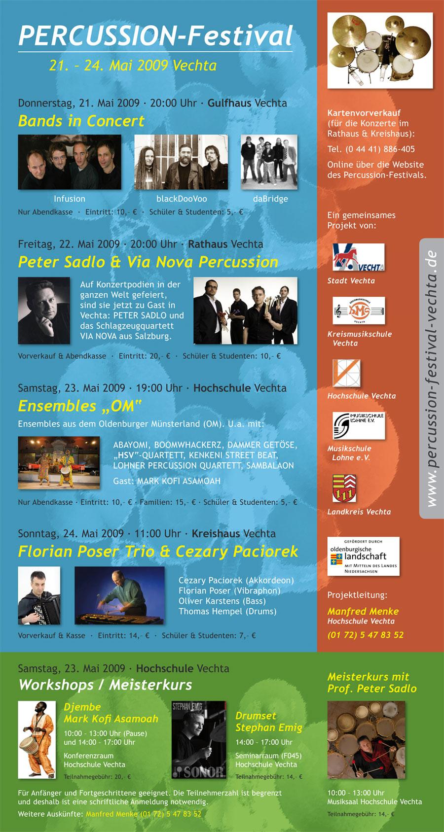Percussion-Festival Vechta · Plakat 2009