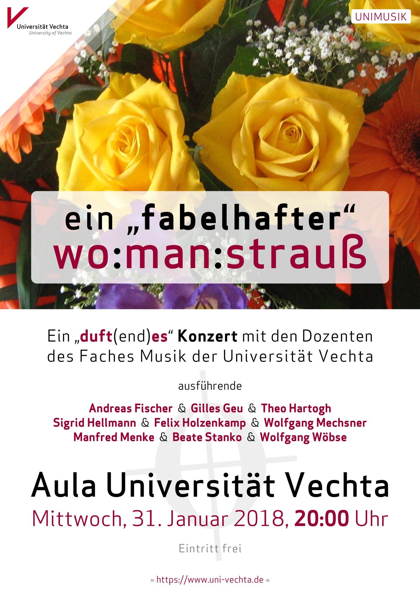 Plakat · UNIMUSIK-Vechta · 31. Januar 2018