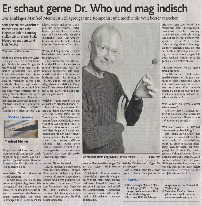 Leute von hier · Oldenburgische Volkszeitung (13. April 2019)