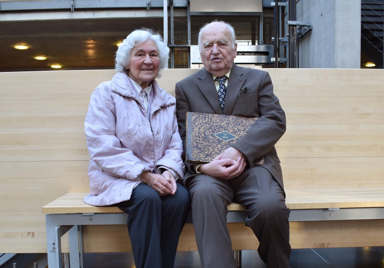 Frau Blindow und ihr Mann Prof. Dr. Martin Blindow im Rathaus Vechta