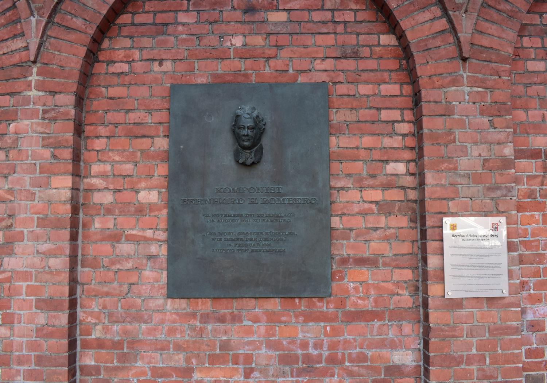 Gedenktafel zu Bernhard Romberg in Dinklage
