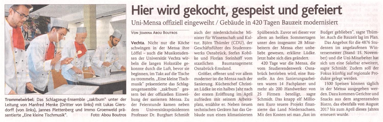 zak!bum » Eine kleine Tischmusik @ Universität Vechta