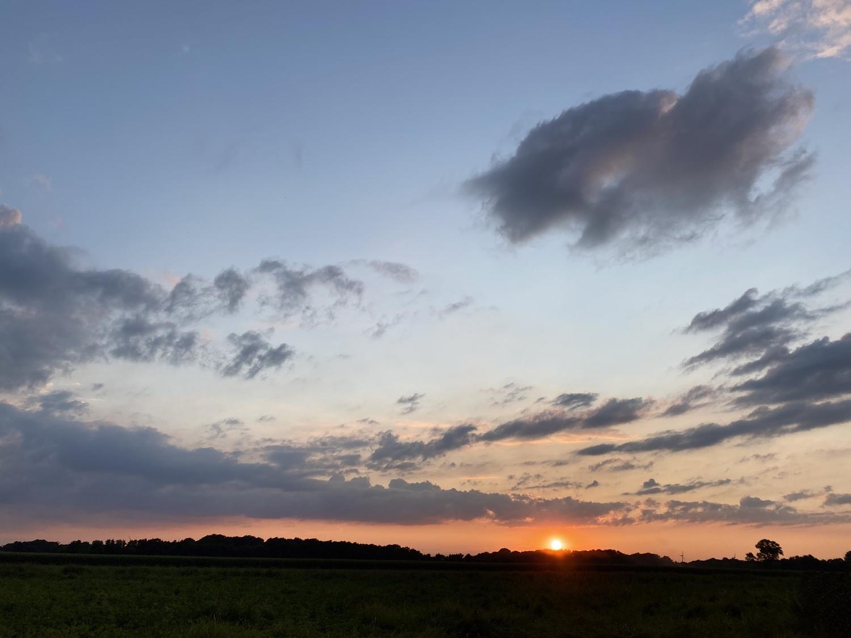 Abendhimmel in Dinklage am 4. August 2021