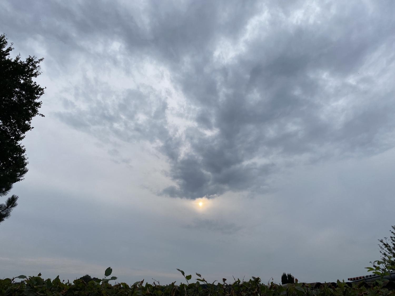Abendhimmel in Dinklage am 21. August 2021