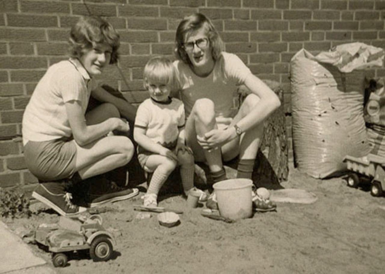 Manfred mit seinen Brüdern Ralf und Jürgen