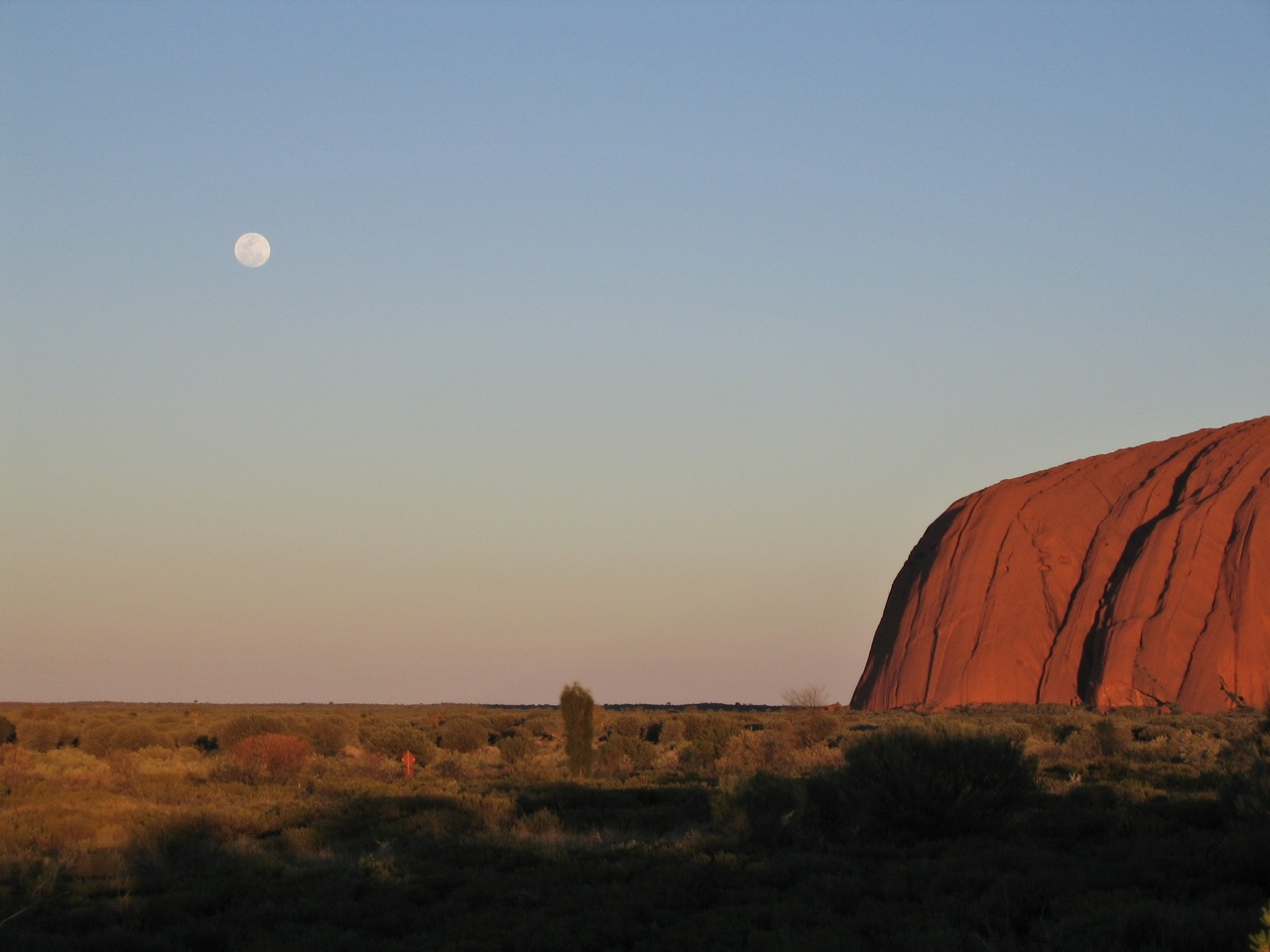 Vollmond @ Ayers Rock