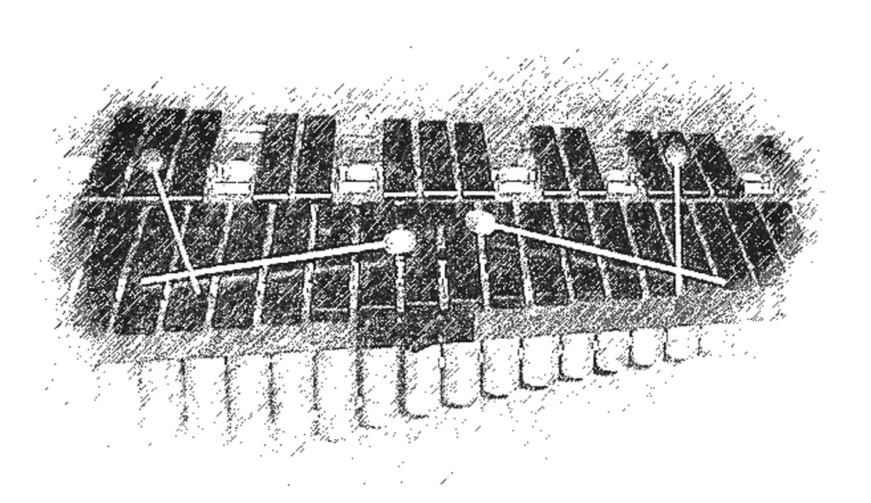 Marimba-Graphik · 14. Februar 1999