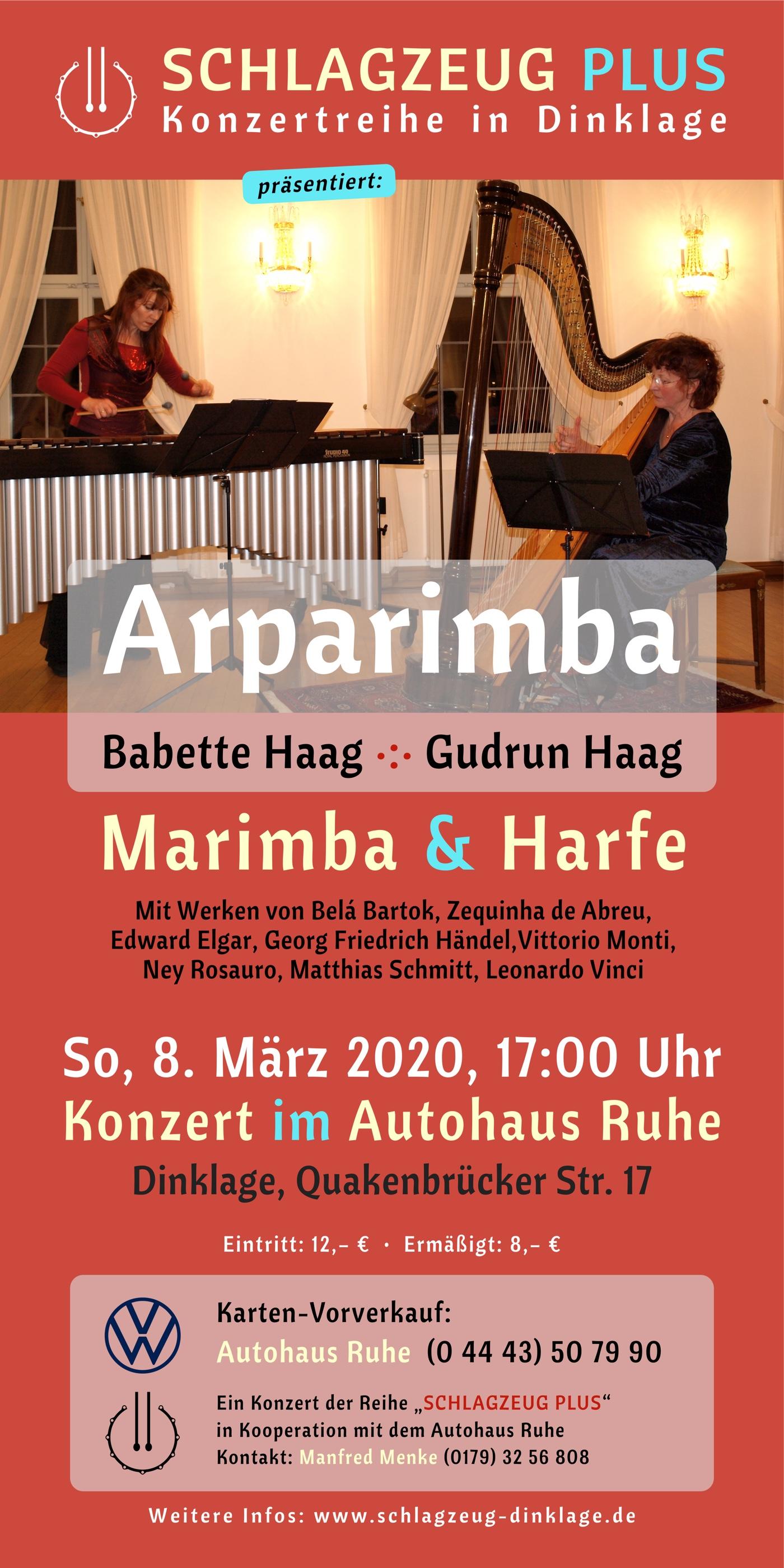 Arparimba · Duo mit Marimba und Harfe