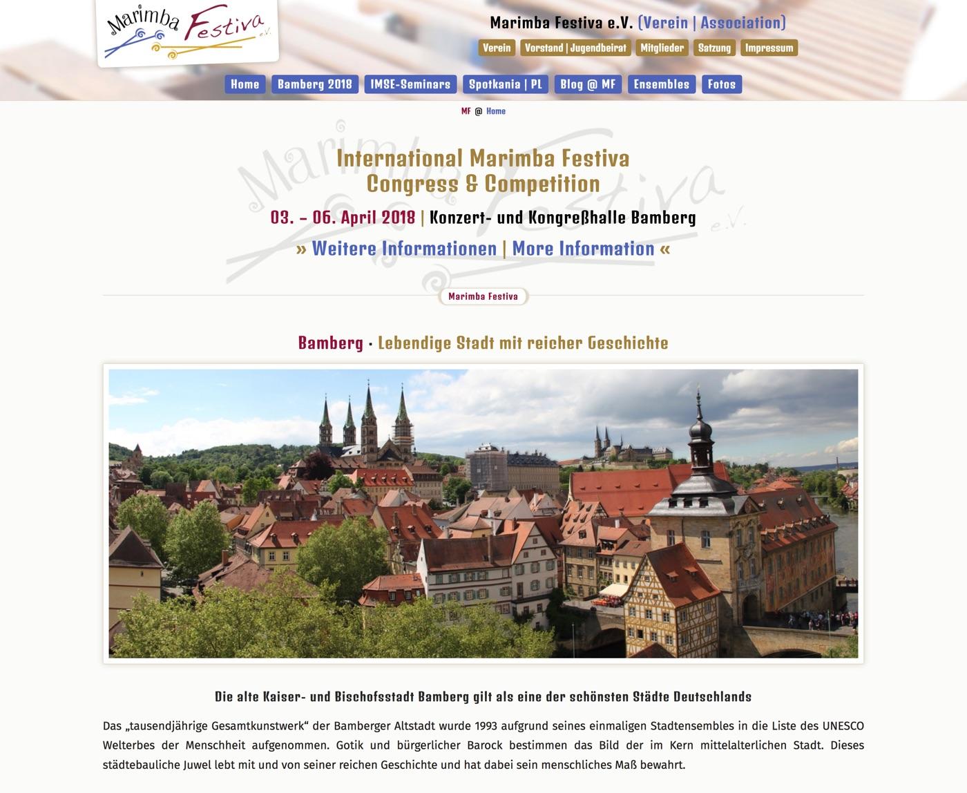 Marimba-Festiva · Bamberg 2018