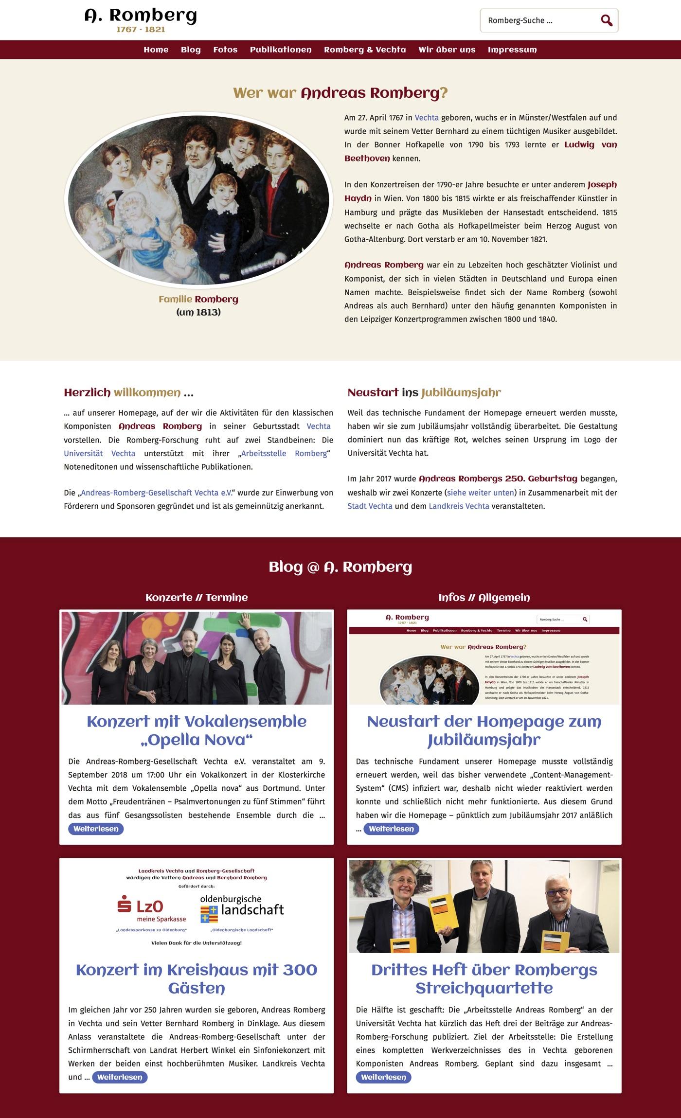 Homepage · Andreas Romberg