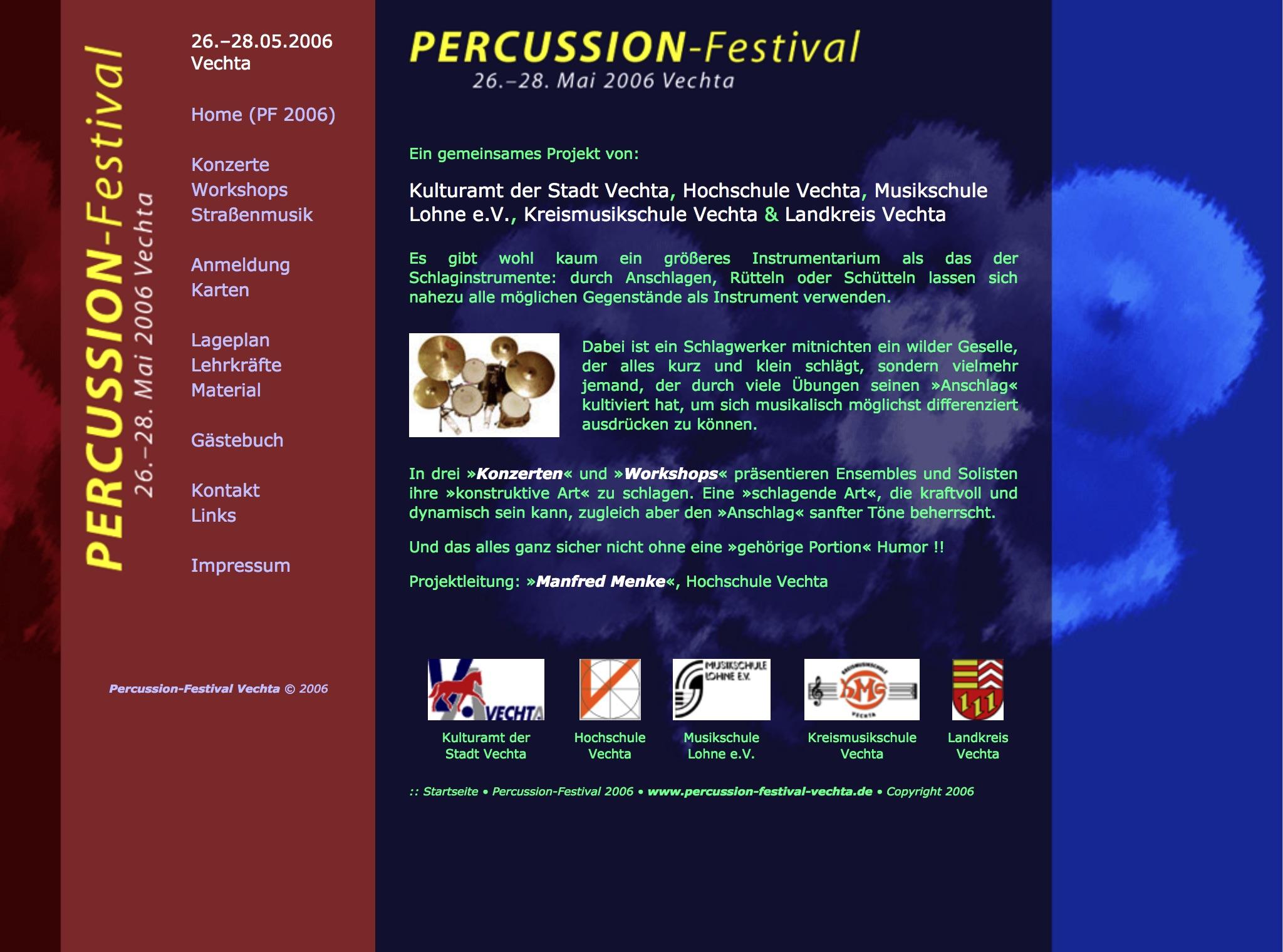 Homepage PFV 2006