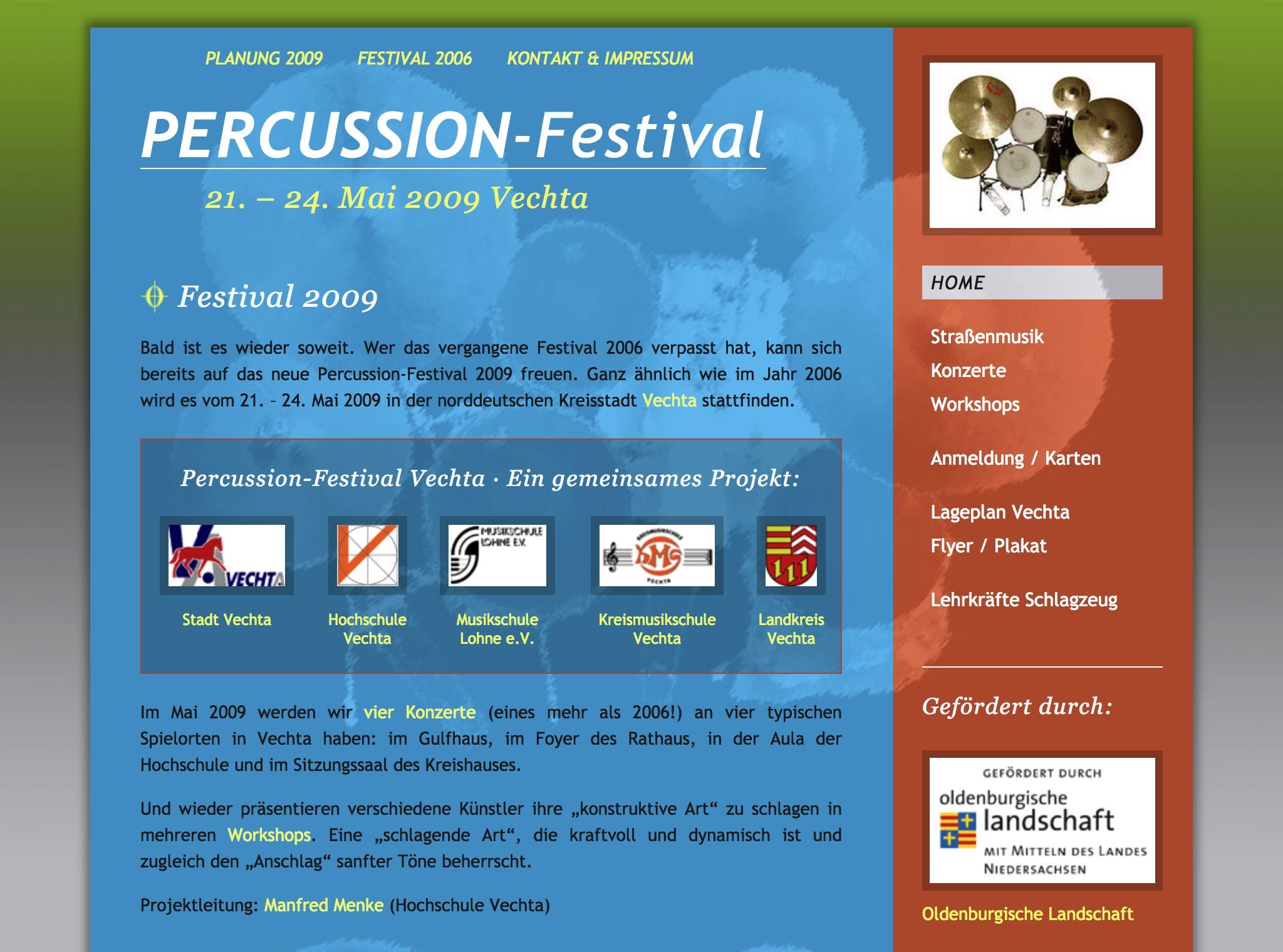 Homepage PFV 2009
