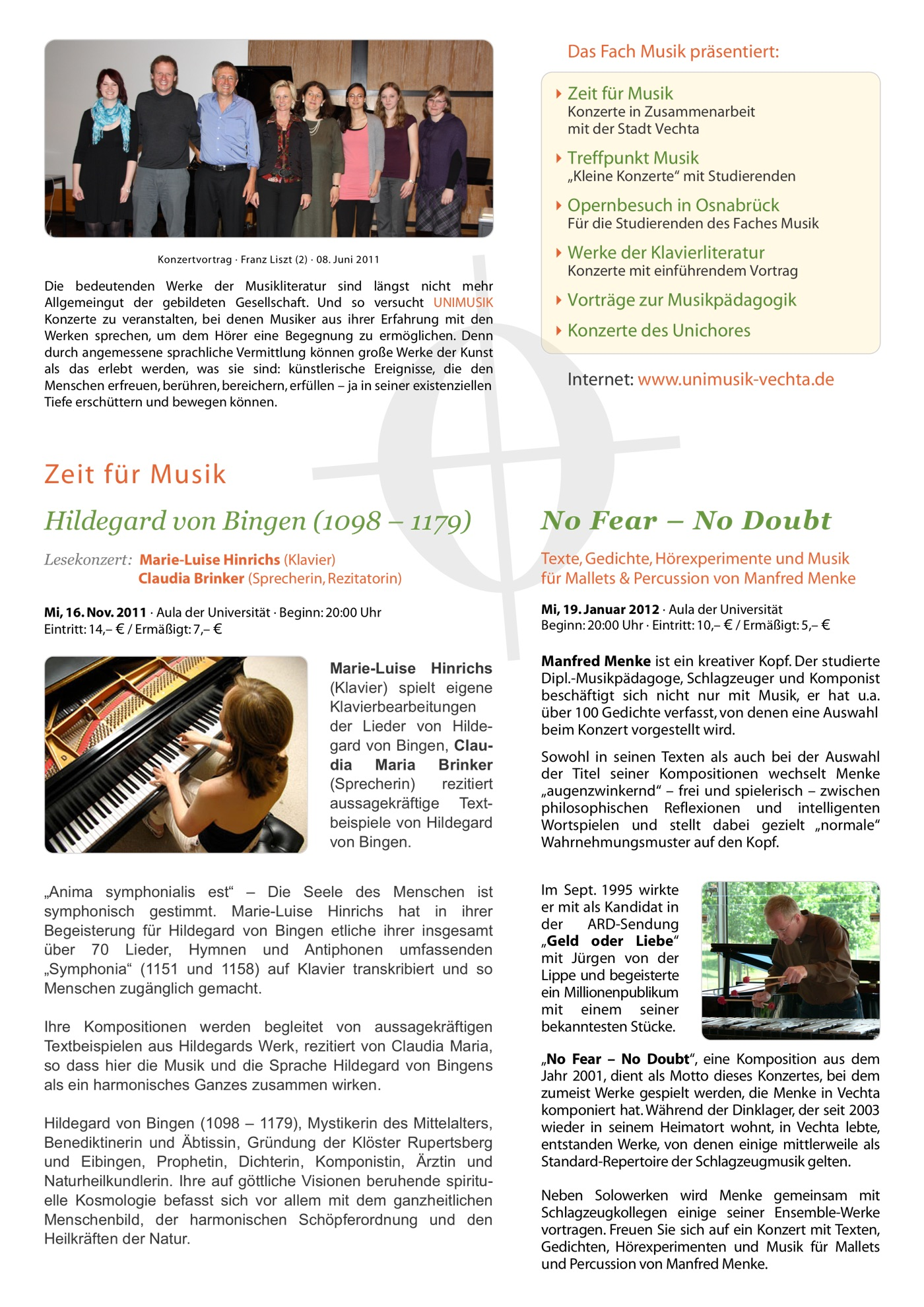 Winter 2011/12 · UNIMUSIK