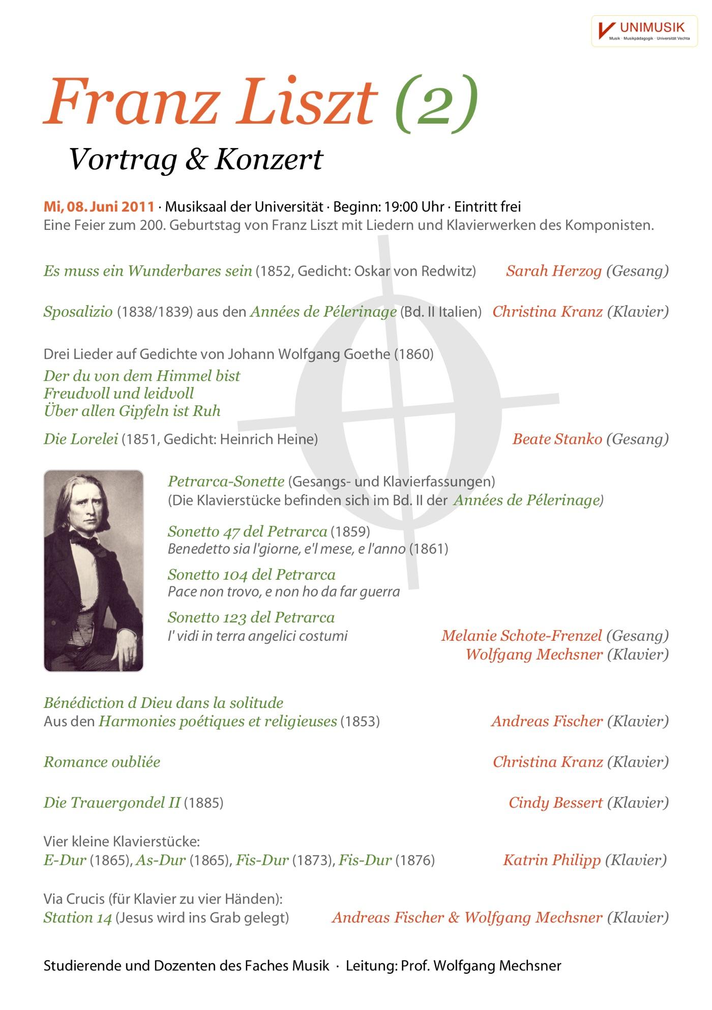 Flyer · Franz Liszt (2) · UNIMUSIK