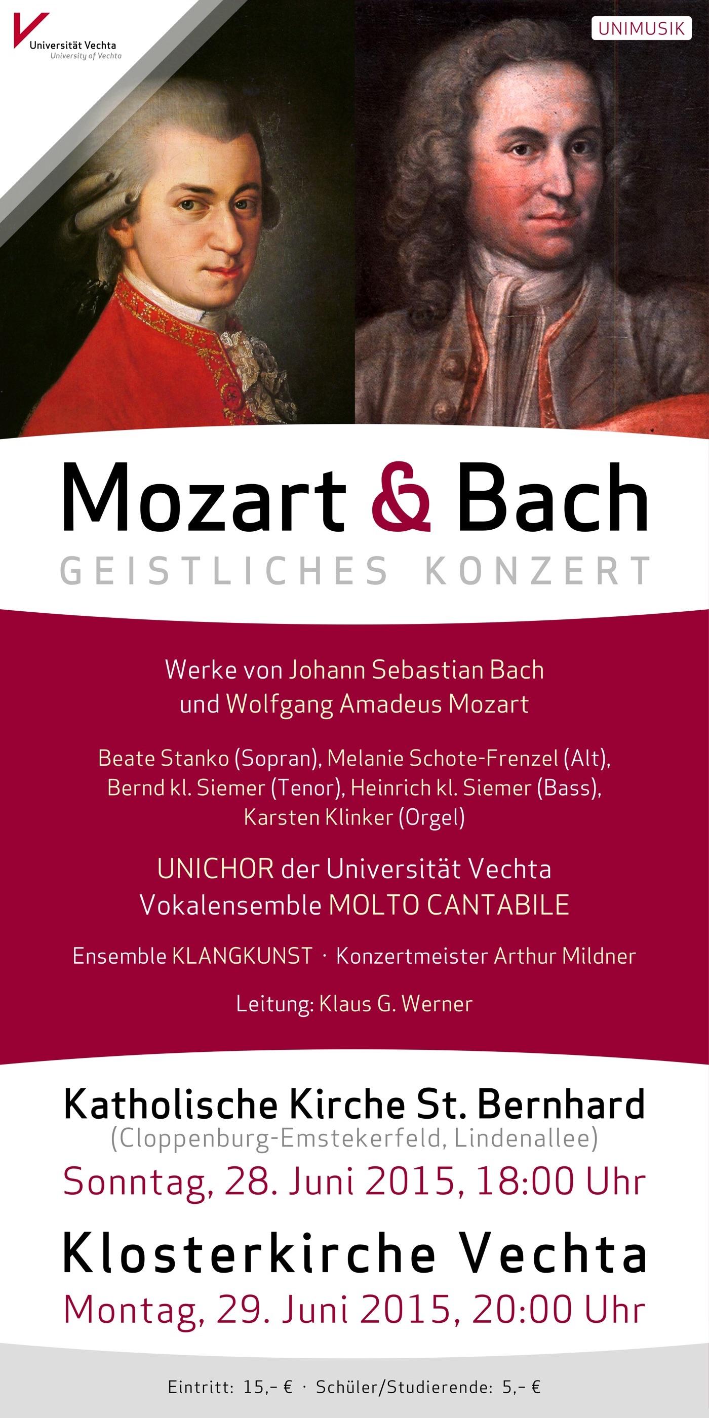 Mozart und Bach · UNIMUSIK