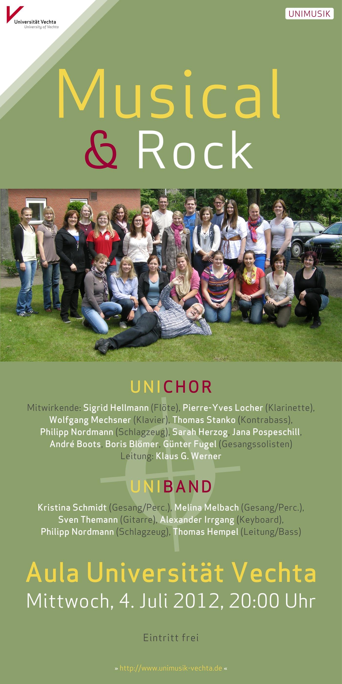 Musical und Rock · UNIMUSIK