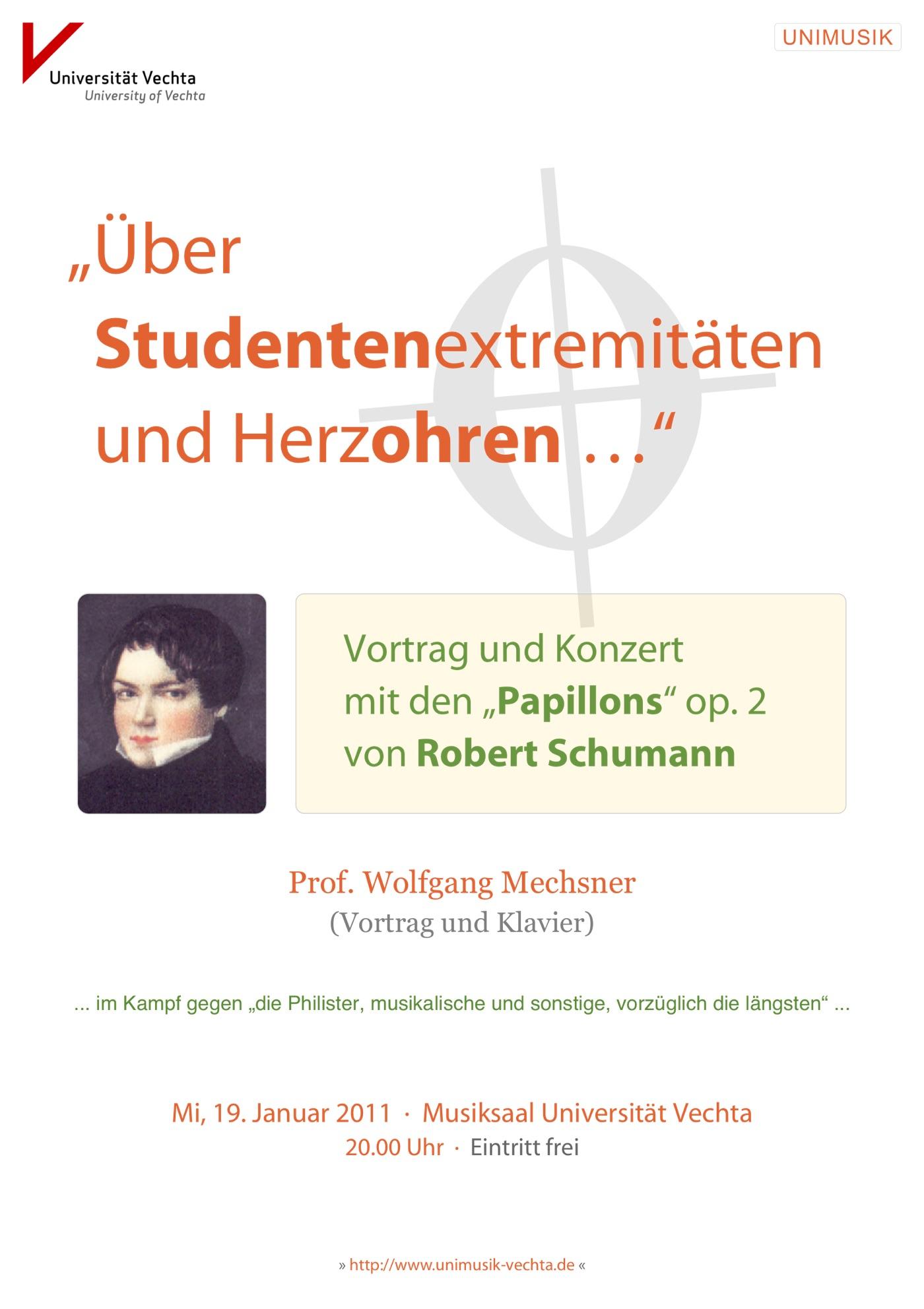 Flyer · Papillons Schumann · UNIMUSIK