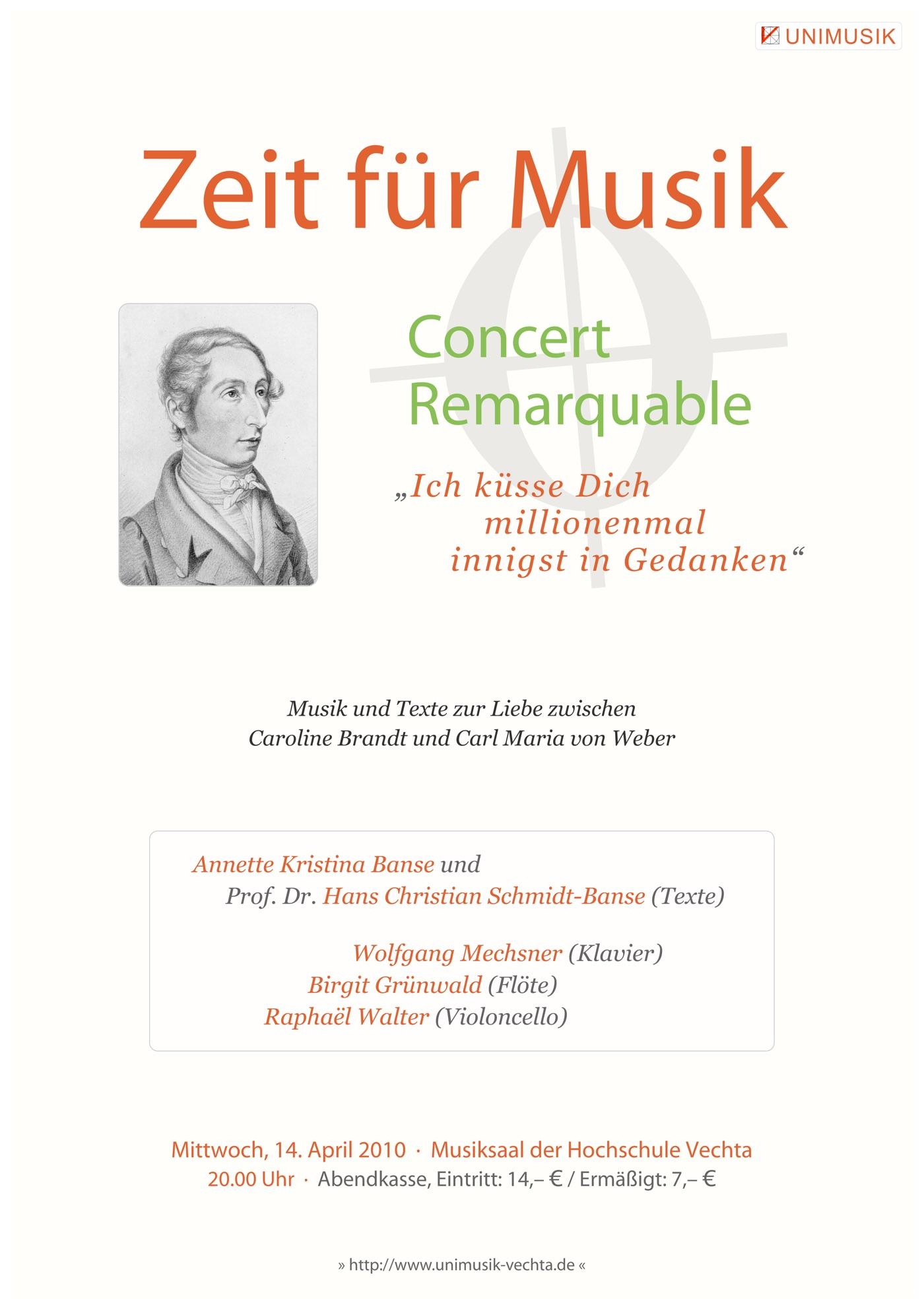 Conert Remarquable · Zeit für Musik