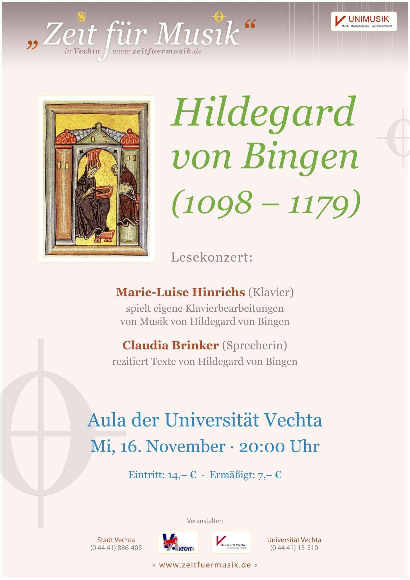 Plakat für Konzertreihe Zeit für Musik