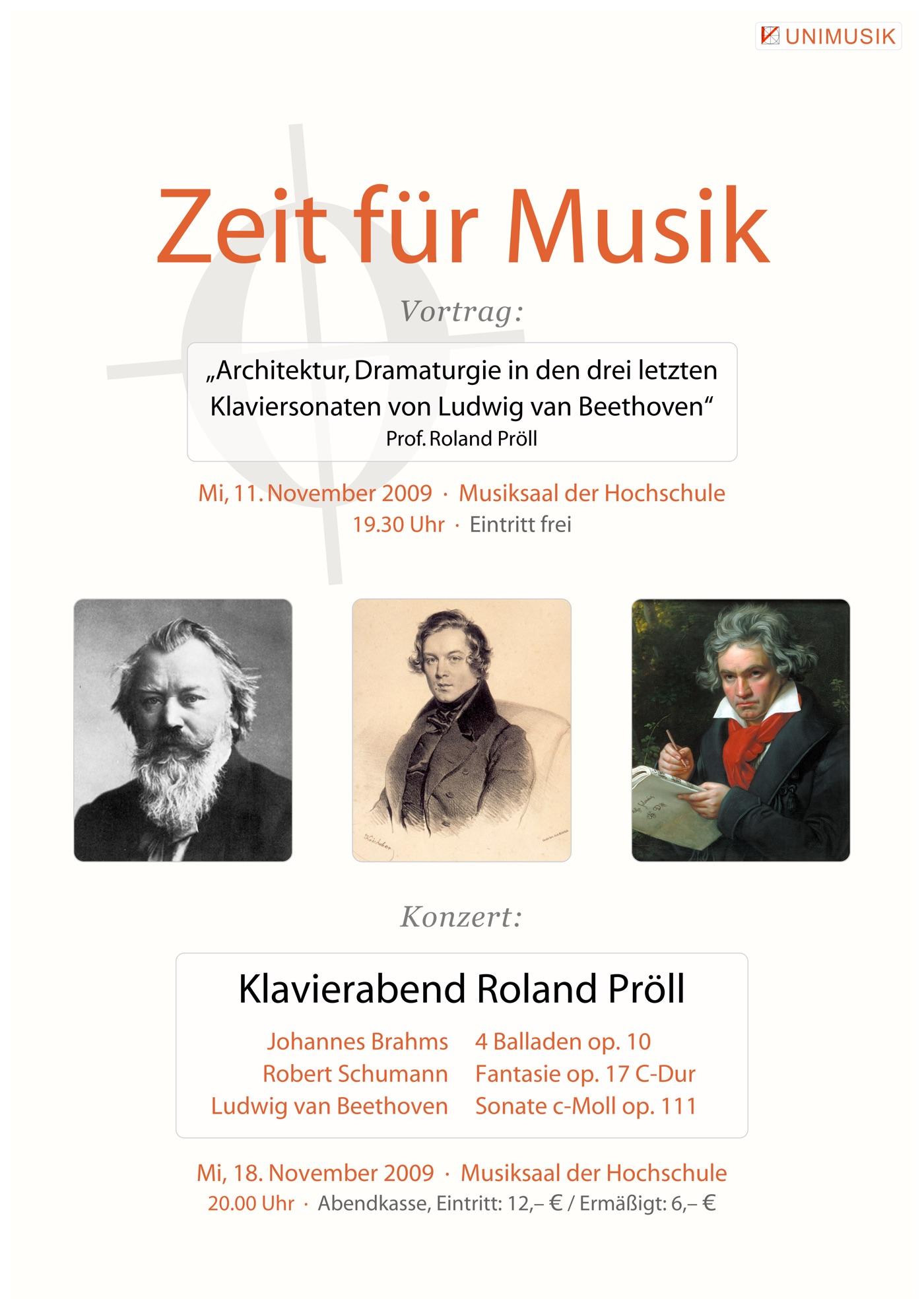 Roland Pröll · Zeit für Musik