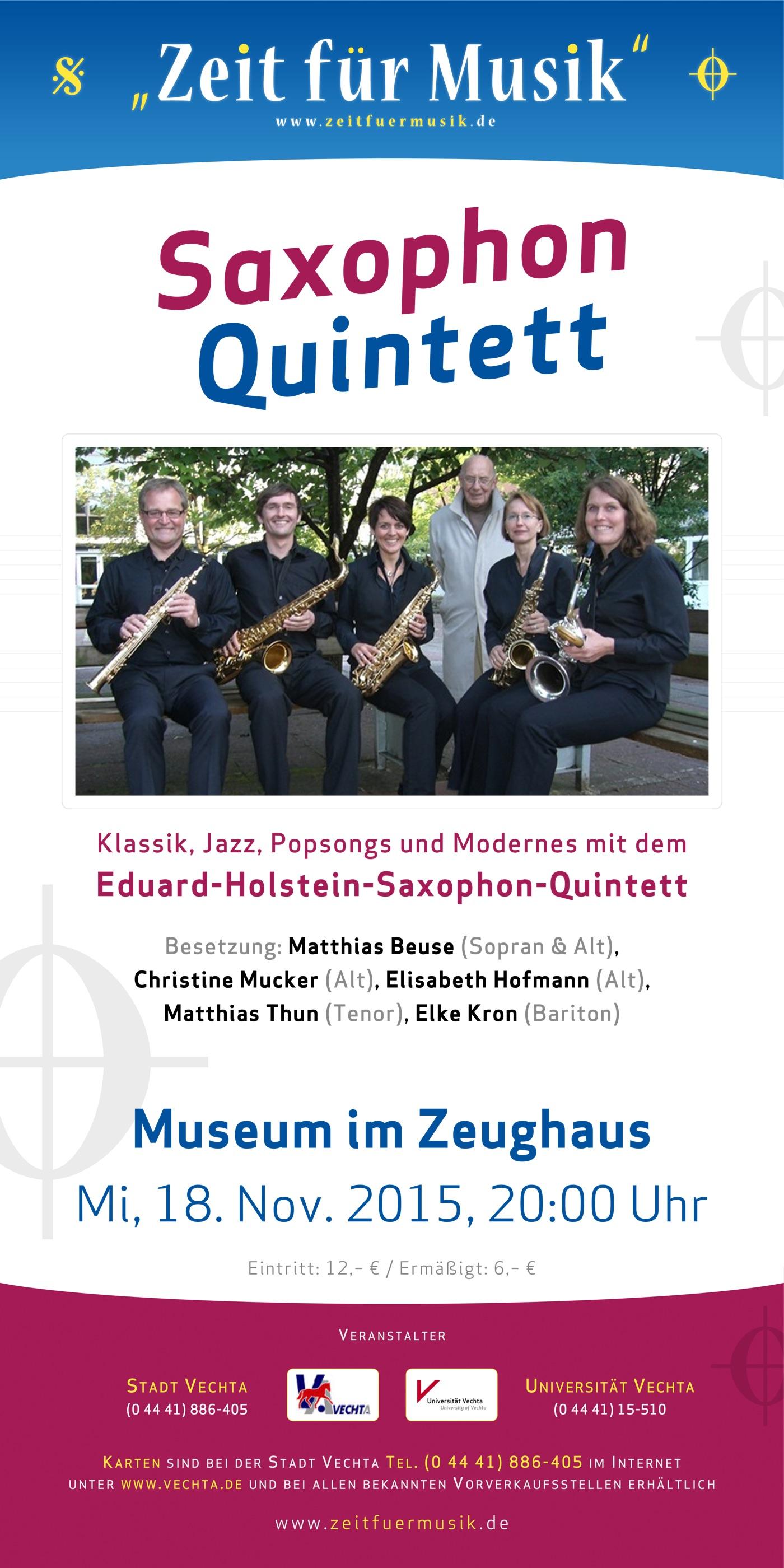Saxophon-Quintett · Zeit für Musik