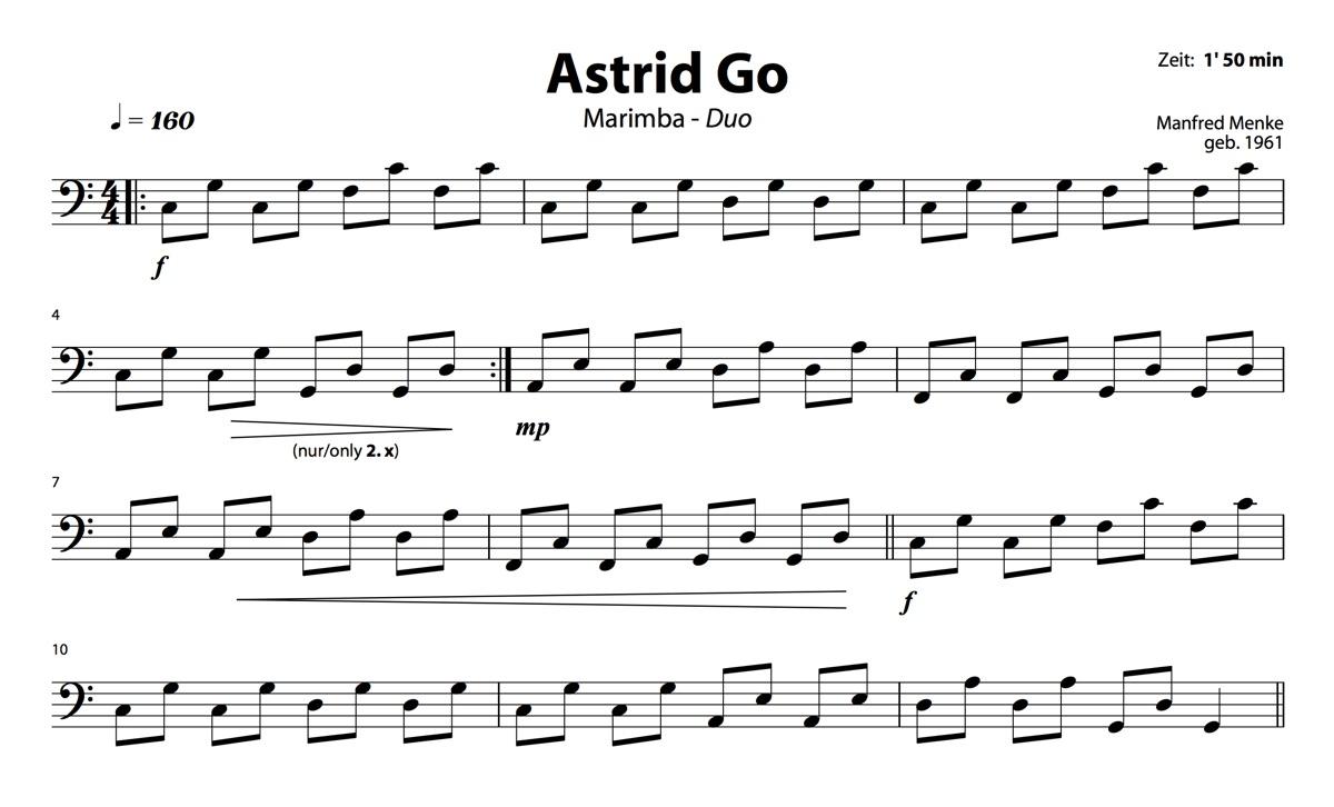 Marimba-Duo: Astrid Go (Spieler 2)