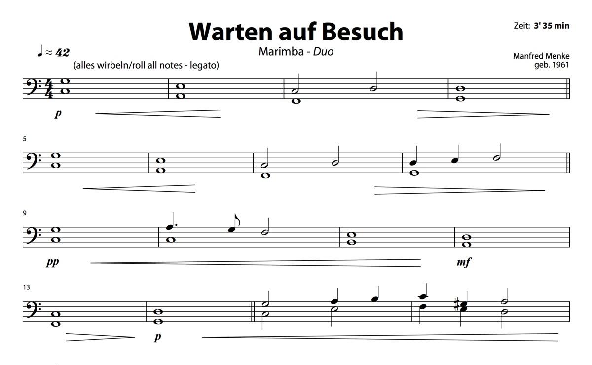 Marimba-Duo: Warten auf Besuch (Spieler 2)