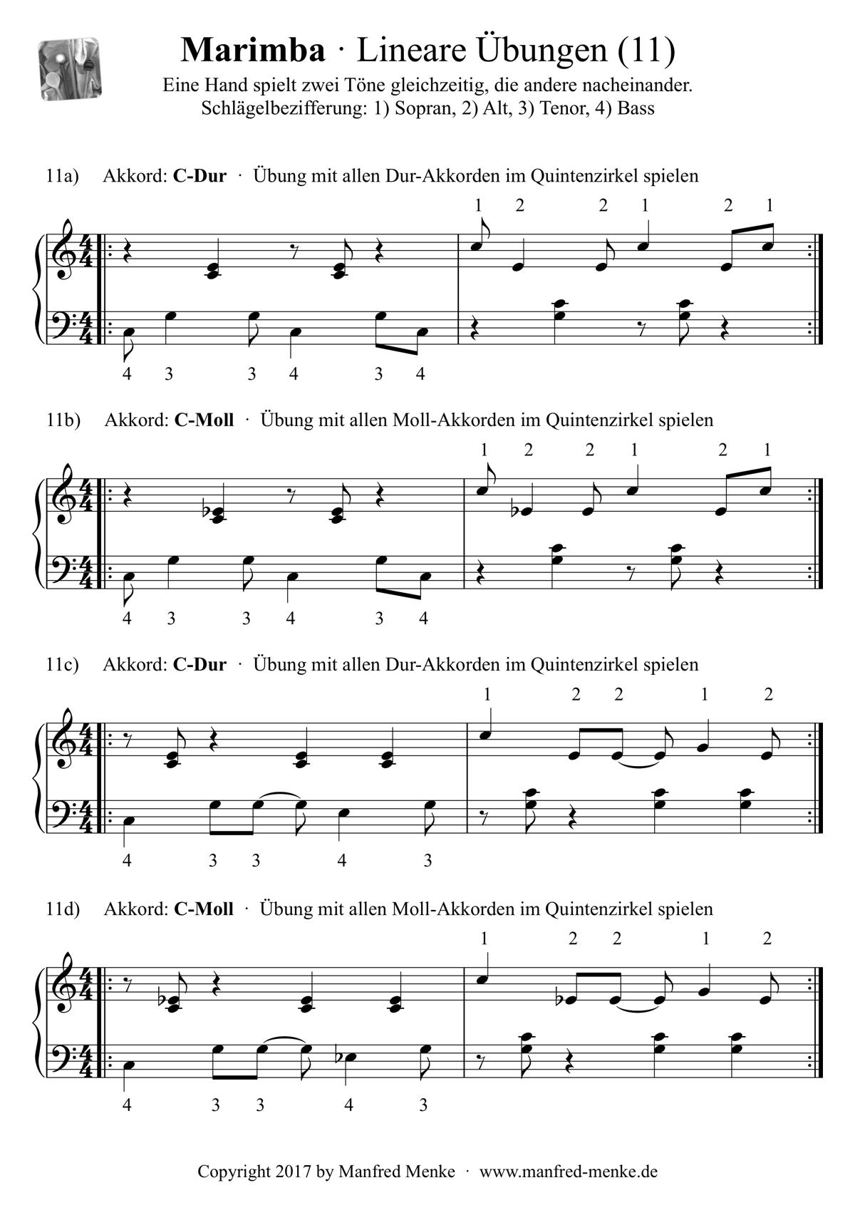 Marimba · Lineare Übungen (Seite 11)