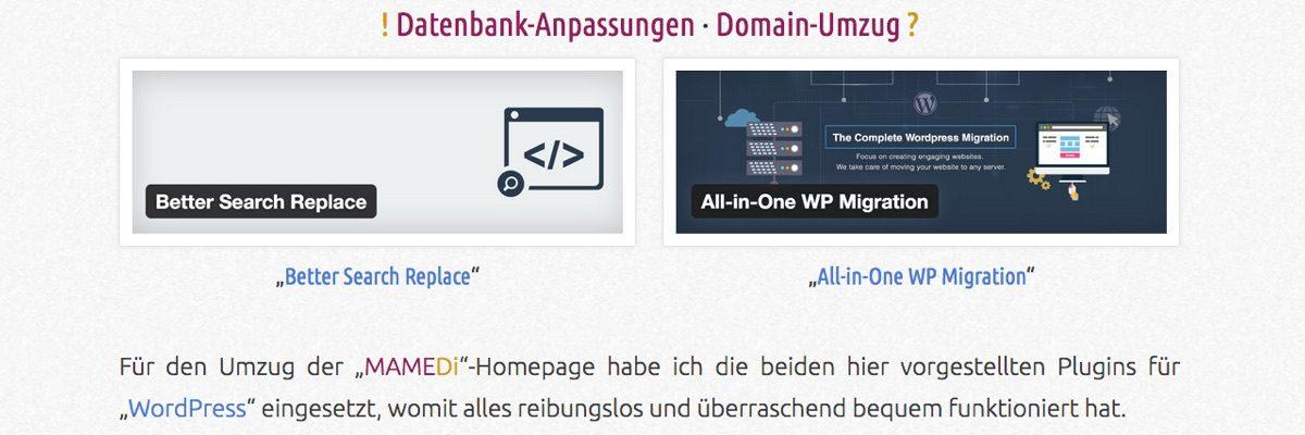 """Umzug und Umstellung auf """"https"""""""