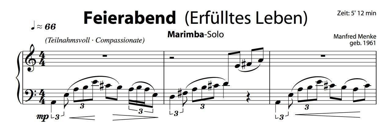 """Marimba-Solo · """"Feierabend"""" (Erfülltes Leben)"""