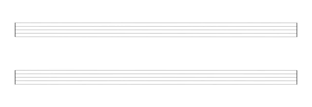 Notenpapier mit 4, 6 oder 8 Systemen
