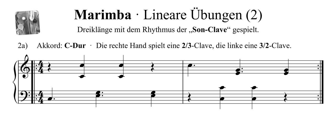 Marimba · Lineare Übungen (1-4)